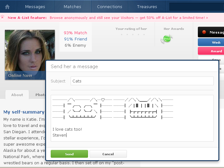 how to get responses on okcupid