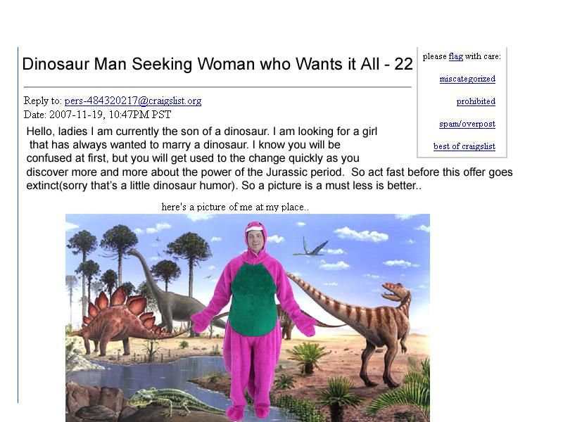 dinosaur man