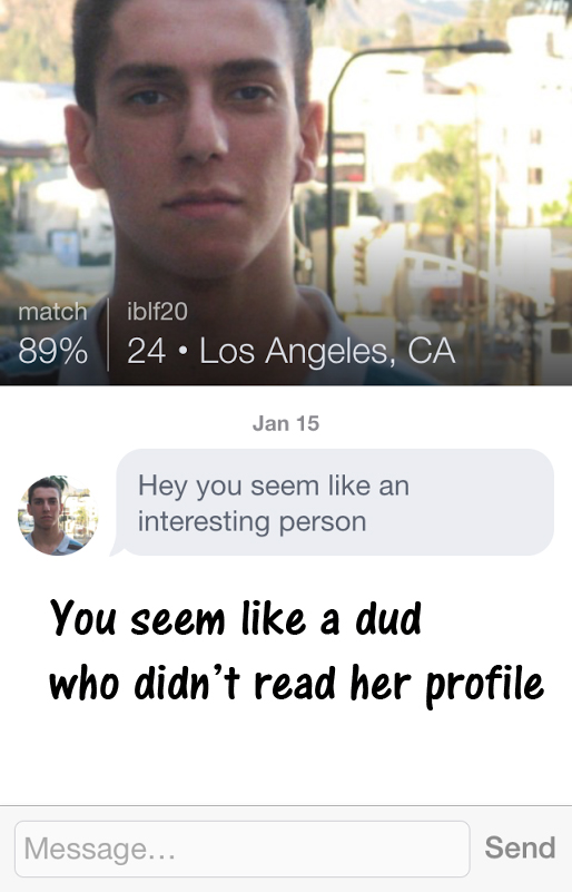 online dating first message